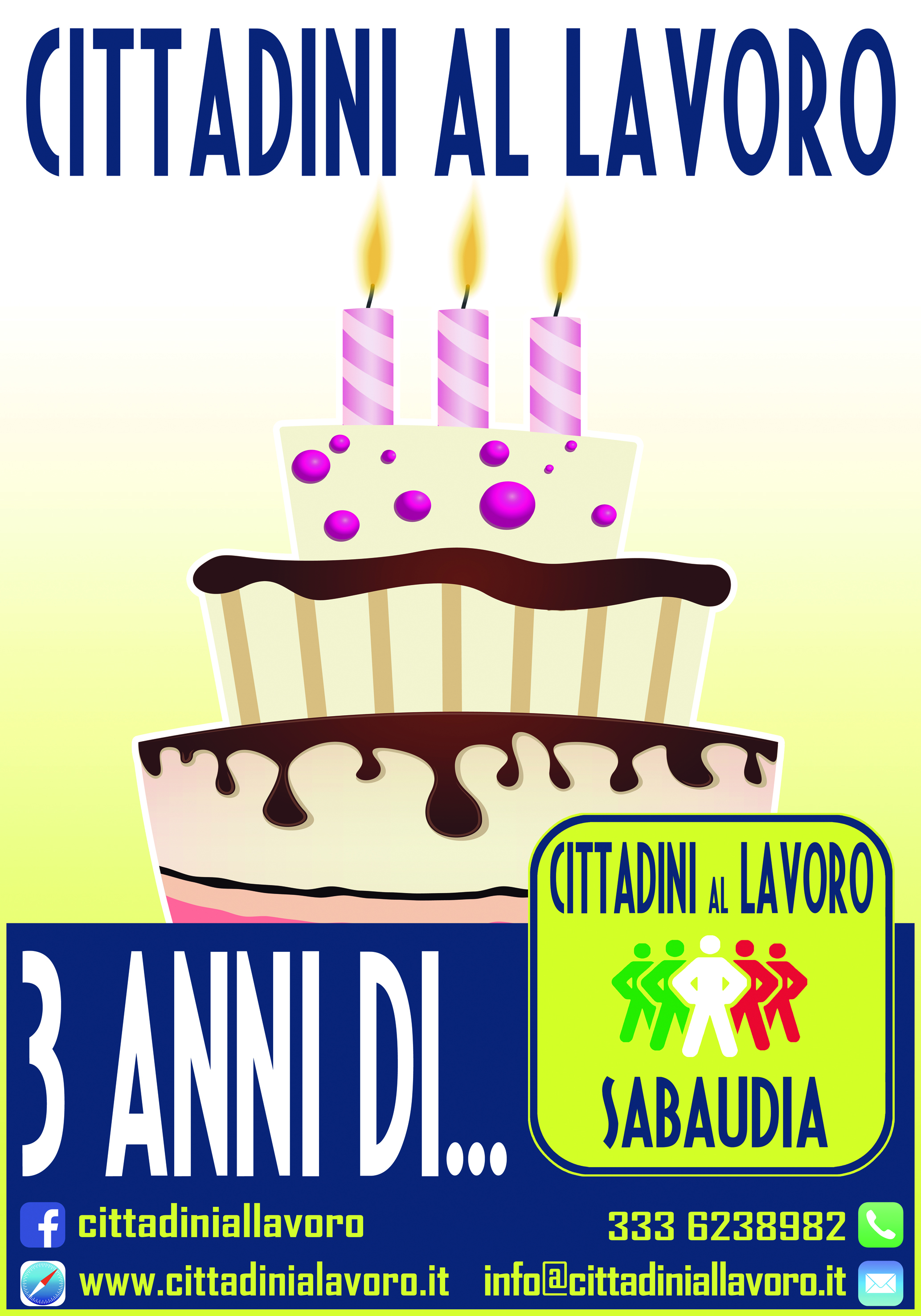3 compleanno cal